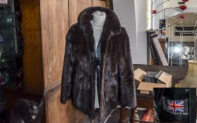 Lovely Dark Ranch Mink Jacket by Stephen of Blackpool, in rich brown colour, fully lined in brown