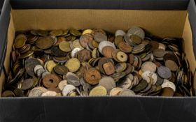 Large Collection of Foreign Coins, a huge collection, several hundred coins of various dates and