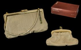 Vintage Glomesh of Australia Evening Bag, new with tags, internal vanity mirror in case, and in