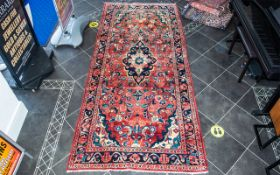 A Genuine Excellent Quality Persian Saruk Carpet/Rug decorated in a unique floral design on red