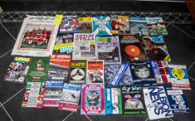 Manchester United Interest - Collection of Manchester United Programmes and others, including Season