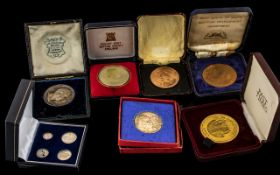 Large Collection of Boxed Coins to include silver, a good collection to include Maundy coins (set of