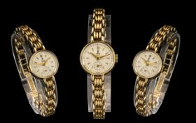 Rolex Tudor - Attractive Ladies 9ct Gold Mechanical Wind Wrist Watch, with Superb Integral 9ct