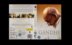 Gandhi Sir Richard Attenborough Rare Signed Autograph DVD Cover This is something beautiful, it is a