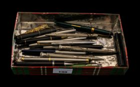 Large Collection of Fountain Pens, Pens and Propelling Pencils of a variety of makes and designs,