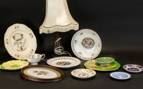 Collection of Royal Porcelain & Assorted China comprising: Alfred Meakin plate commemorating the