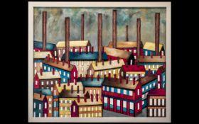 Christopher Barrow - Northern Industrial Scene of Factories,