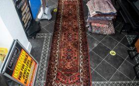 Beautiful Iranian Terracotta Ground Carpet/Rug Hamadon Medallion Design. Hand Made. Label reads '