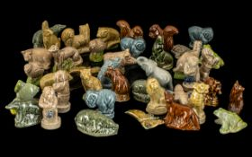 Collection of 40 Wade Whimsies. including elephants, squirrels, foxes, bears, lions, tigers,