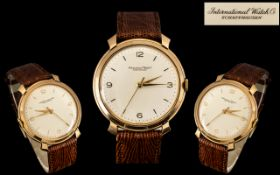 I.W.C ( International Watch Company ) Iconic - High Quality Mechanical Wind Gents Superb 18ct Gold