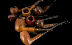 Large Collection of Old Pipes to include genuine block Meerschaum, Portland Natural, Thorburn
