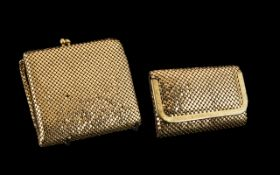 Glomesh of Australia Gold Chain Purse brand new, with compartments for coins and cards, in
