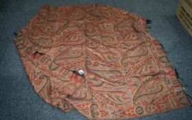 Antique Paisley Shawl with traditional design, in good clean condition; 60 inches (150cms) x 65