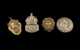 Collection of Silver Medals ( 4 ) All Fully Hallmarked for Silver, Various Subjects. Comprises 1/