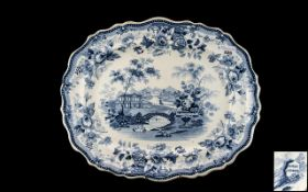 Staffordshire Pottery Transfer Printed B