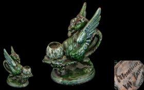C.H. Brannam Dragon Candle Holder