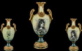 Austrian - Amphora Late 19th Century Sup