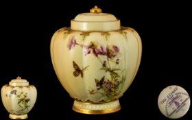 Royal Worcester Porcelain Co Hand Painte