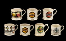 A Collection of Seven Wade Tankards to i