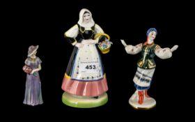 Porcelain Figure of a Russian Dancing Gi