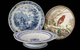 Staffordshire Transfer Printed Blue and