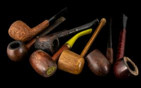 Collection of Old Pipes to include Carey