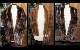 Three Vintage Fur Collars comprising a M