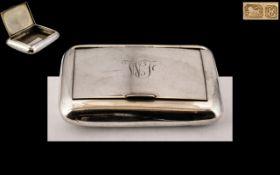 Edwardian Period Silver Hinged Snuff Box