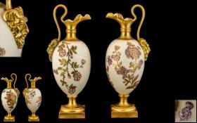 Royal Worcester Fine Pair of Hand Painte