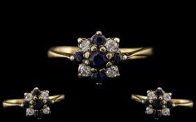 18ct Gold Attractive Sapphire and Diamon