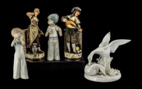 "Pair Cascades Figures of Children 6"" hig"