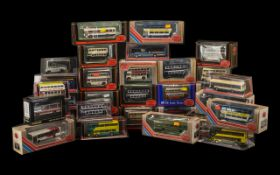 A Collection of 34 Die Cast Buses. All boxed.