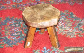 Wanderwood Designer Rustic Oak Tripod Stool. Solid Construction Stool by Wanderwood. Lovely Patina