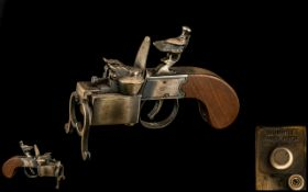 "Dunhill Tinder Pistol Tabletop Lighter of Typical form. Length 6""."