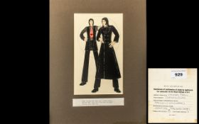 Royal College of Art Studies by Applicants for Admission for Fashion/ Mens Wear; mounted, finished