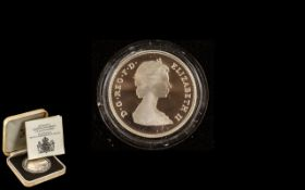 Royal Mint Silver Crown '80th Birthday Proof Commemorative Crown' in original case and box plus a