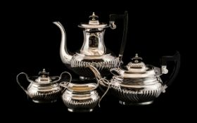 Silver Plated Four Piece Tea and Coffee Service,