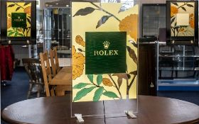 Rolex Official Superb Original Large Shop Window Display Stand,
