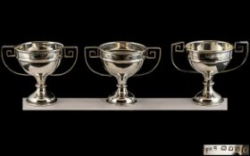 Three Silver George V Twin Handled Trophies. Hallmarked for London 18365, Gross weight 7 onz.