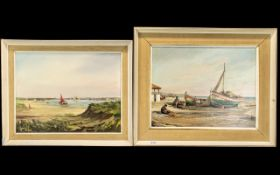 Pair of Modern Oil Paintings on Board. Signed C. Lynch. 1968 & 1966.