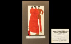 Royal College of Art Studies by Applicants for Admission for Fashion/Mens Wear; mounted, finished