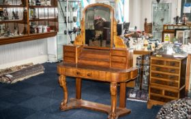 Victorian Dressing Table and Mirror, a large and impressive dressing table,