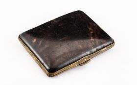 Early 20th Century Tortoise Shell Ladies Cigarette Case Victorian tortoise shell cigarette case,