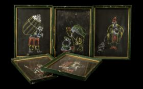 Collection of Middle Eastern Chalk Drawings, early 20thC chalk drawings of Middle Eastern men,