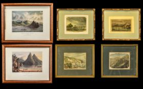 West Indies Interest - Nine Various Coloured Prints & Antique Engravings, including Dominica,