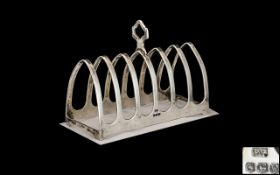 Art Deco Period - Sterling Silver Six Tier Toast rack of Pleasing Proportions.