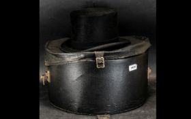 Gentleman's Black Top Hat by Christy's of London, in hat box.