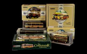 Collection of Corgi Diecast to include AEC Reliance/Panorama I - Yelloway Motor Services 42405,