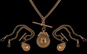 Antique Period Superb 9ct Gold Double Al
