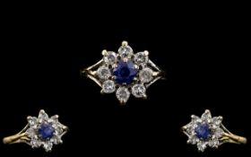 Ladies - Attractive 18ct Gold Diamond an